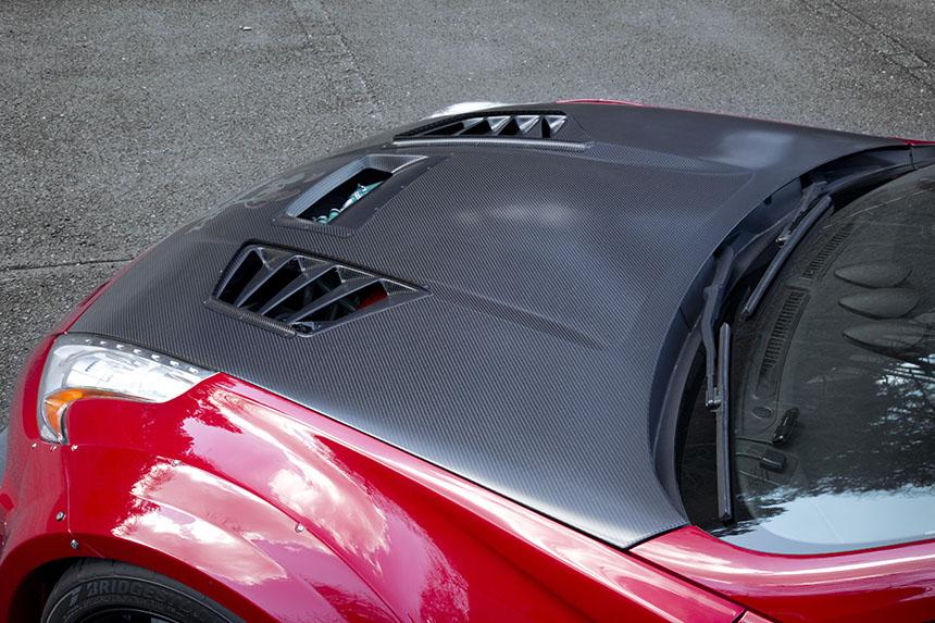 Varis VRS Kamikaze Cooling Bonnet (hood) - Nissan 370z ...